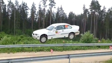BMW Takes Flight, No Dixie Horn Needed – An Incredible Jump From The Viru Rally In Estonia