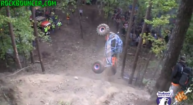 Video: Watch A High Powered Rock Buggy Climb And Then Fall Off A Sheer Cliff!