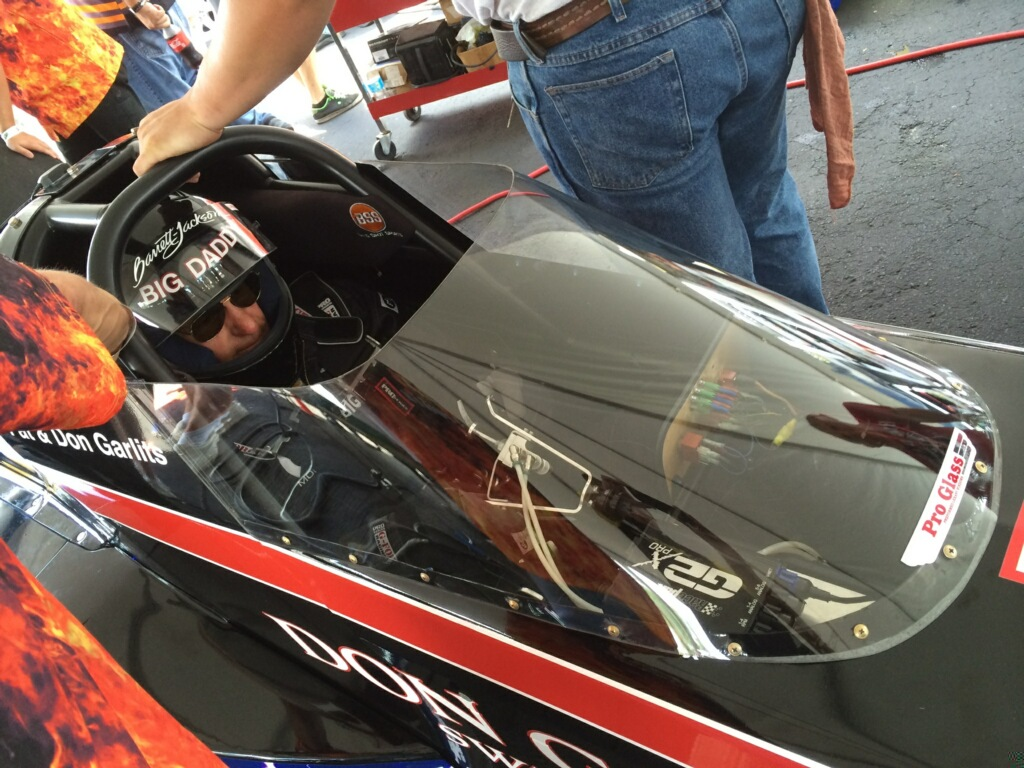 Burned Up Motor Leaves Garlits Short Of 200 On Second Round Of Testing In Swamp Rat 37 Electric Dragster At Bradenton