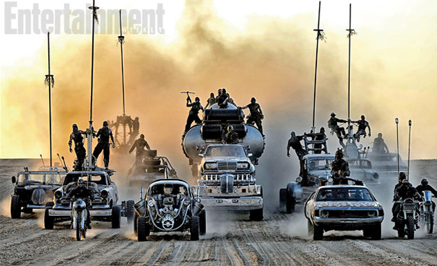 The First Official Pictures of the New Mad Max Cars Unveiled. Semi-truck With A Whole Benz For A Cab? Yes Please!