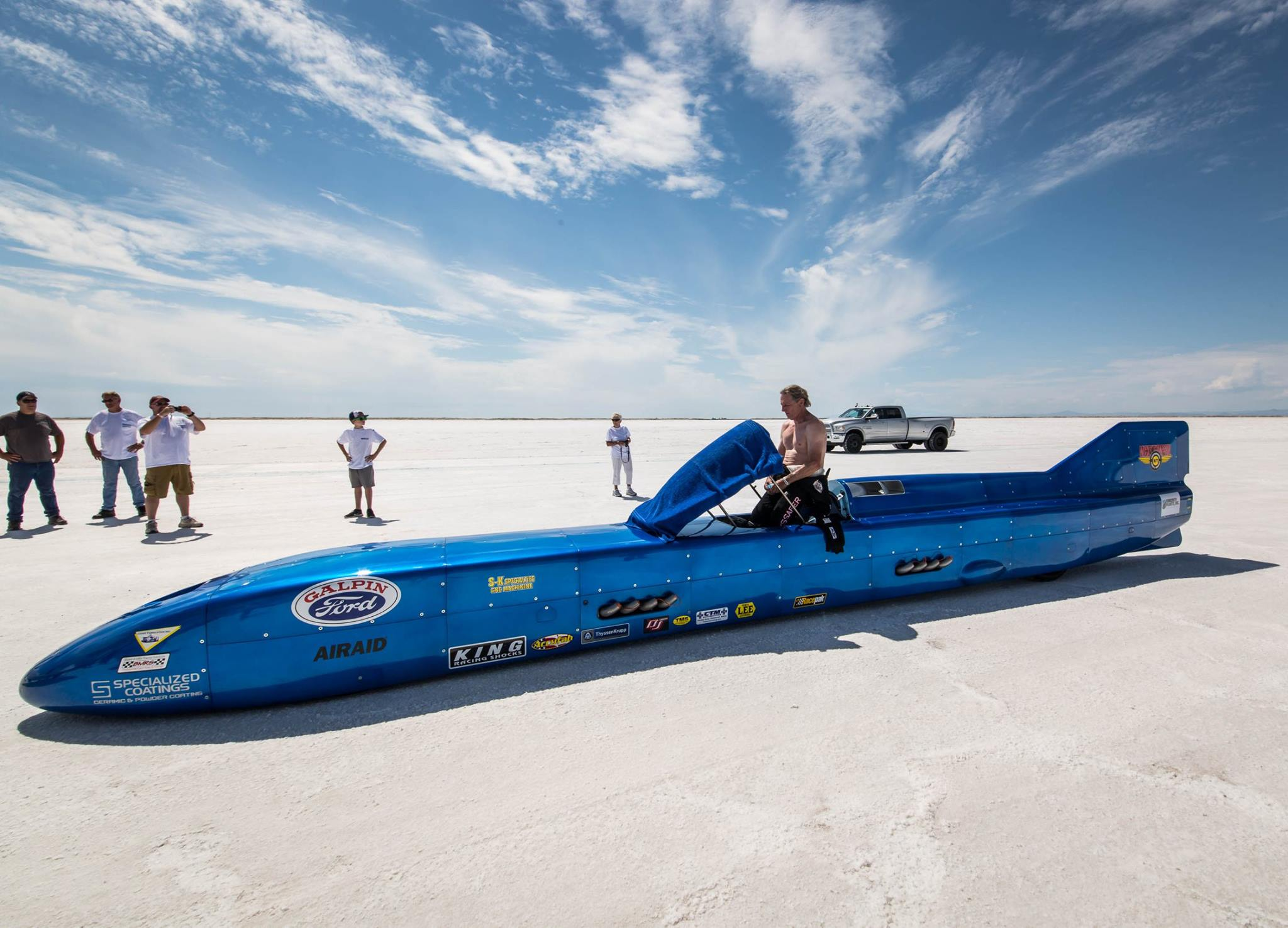 Danny Thompson Clocks 317mph Run In Challenger II During USFRA Test Session At Bonneville