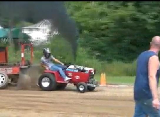 Garden Tractor Pulling Crashes : Bangshift turbo diesel garden pulling tractor