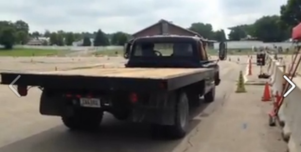 Watching This 1969 Chevy C30 Flatbed On The Autocross Course Is Both Hilarious And Tiring – This Driver Was Working Hard!