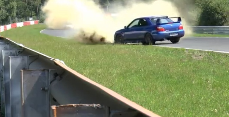 Watch This Subaru WRX STi Driver Make An Epic Save On The Nurburgring To Save His Bacon (And His Car)