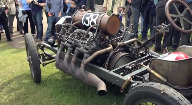 Best Of 2014: Living History- Listen To The Darracq V8 Fire Up And Run!