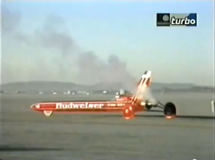 """Land Speed Controversy Video: A Cool Look At The Infamous Budweiser Rocket Car And It's """"Supersonic"""" 1979 Run"""