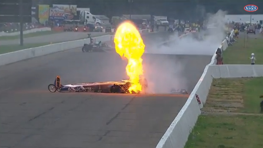 Best of 2014: Watch A Violent Double Dragster Wreck From NHRA Brainerd – Top Dragster Competitors Survive Horrible Incident