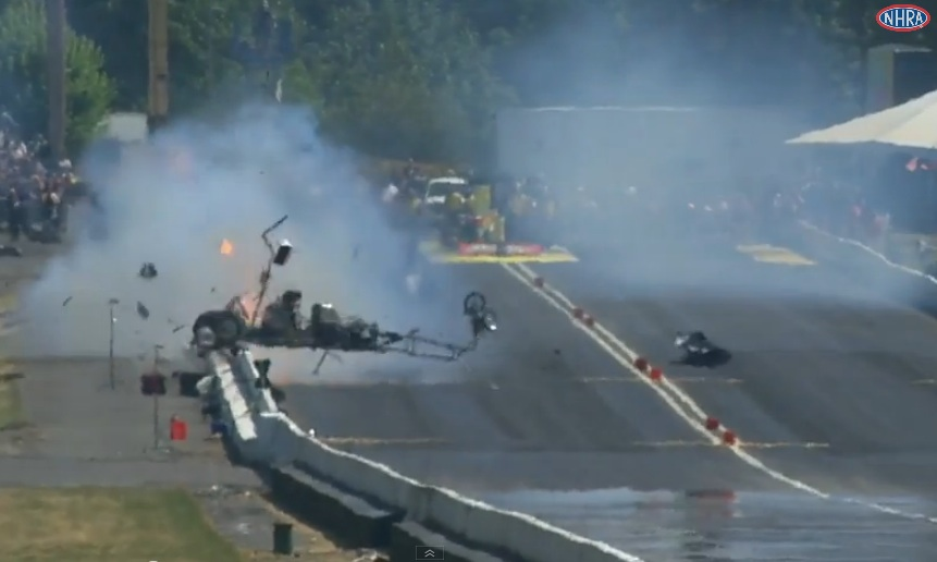 43ac4fa1 Watch Mark Taliaferro Suffer One Of The Worst Top Alcohol Dragster Wrecks  We've Ever Seen – He Walked Away!