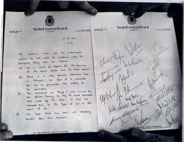 A Piece Of Racing History: The Letter That Killed Group B Rally