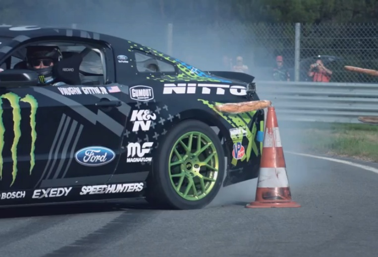 """Watch Vaughn Gittin Jr """"Introduce"""" The People Of France To The 2015 Mustang"""