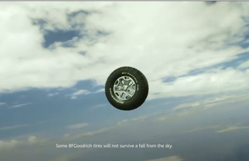 BFGoodrich Pushed Their New Off Road Tires (mounted to wheels) Out Of An Airplane At 10,000ft To See What Would Happen – This Is Pretty Awesome