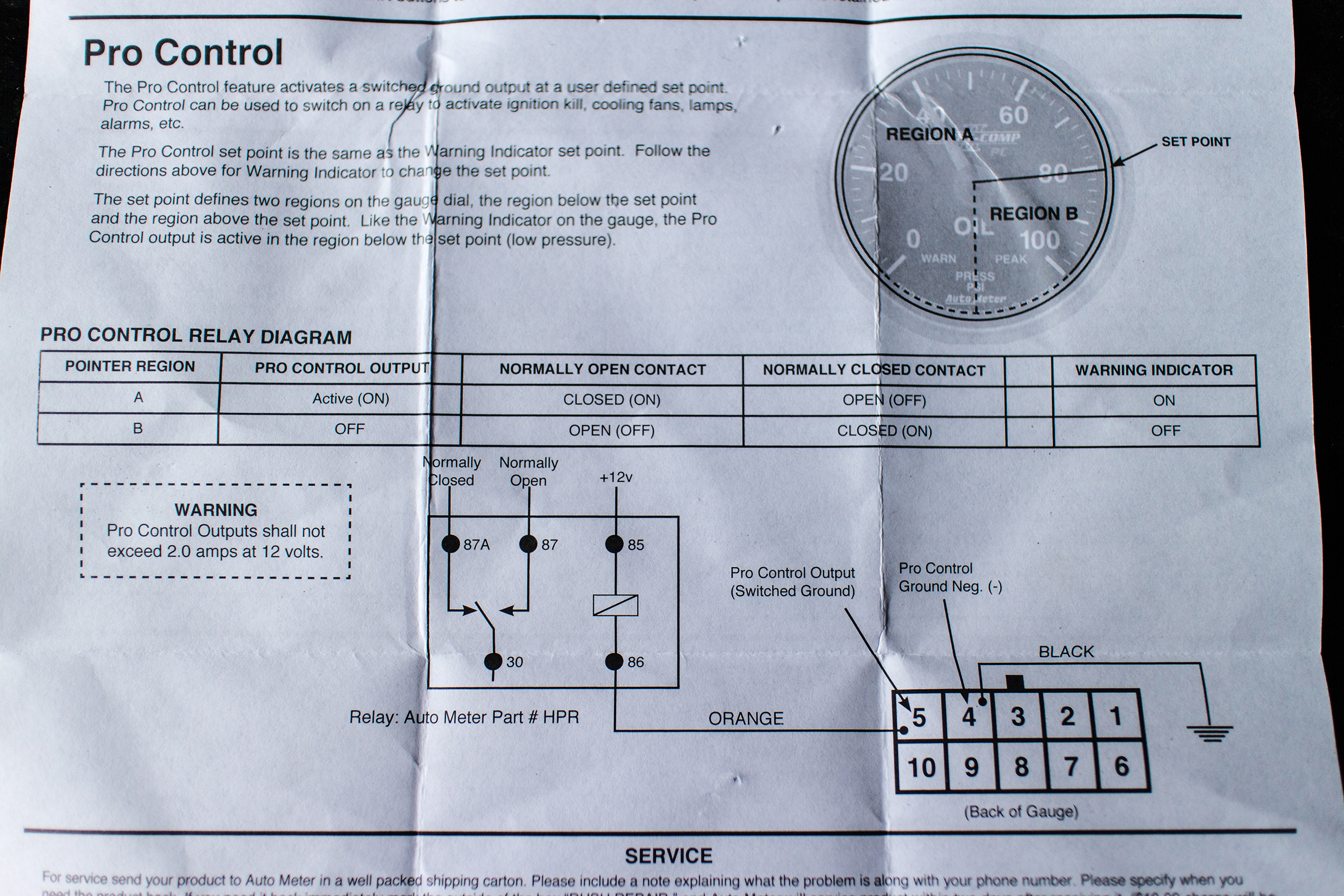 Auto Meter Tach Wiring Diagram Wires Will Be A Thing Sunpro Water Temp 36 Equus 2