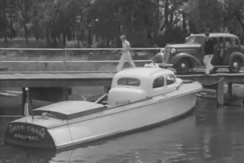 In The 1930s A New York Chevy Dealer Had A Mahogany Boat Built Around A 1936 Chevy Sedan (W/Video)