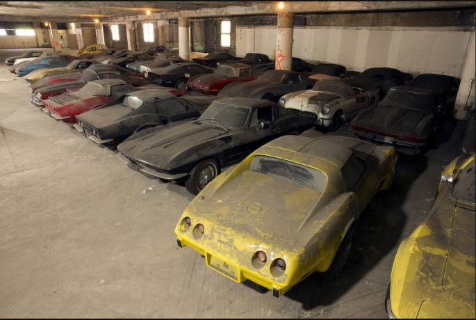 Best of BangShift 2014: Crazy Story – 36 Neglected And Abandoned Corvettes Saved From NYC Parking Garages – The Legendary Peter Max Collection Is Being Restored