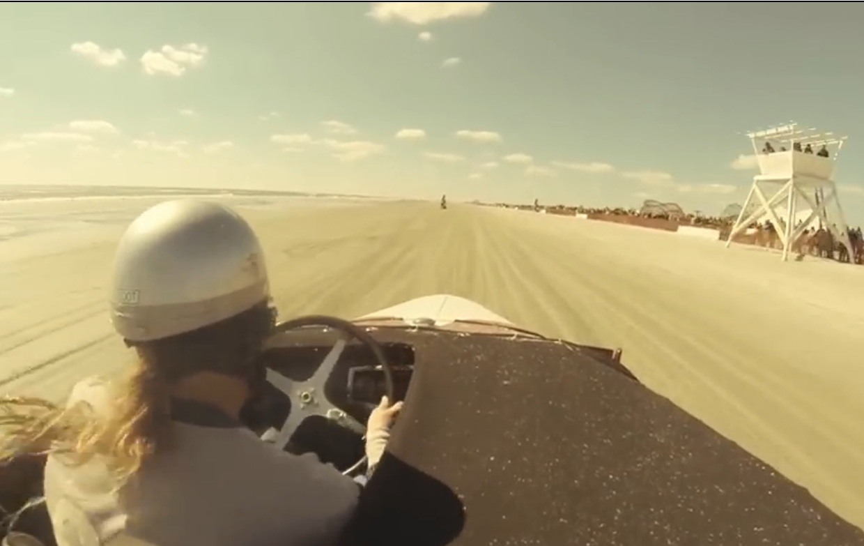 Ride In A Cool Hot Rod For A Few Laps Down The Beach During the 2014 Oilers Car Club Race Of Gentlemen
