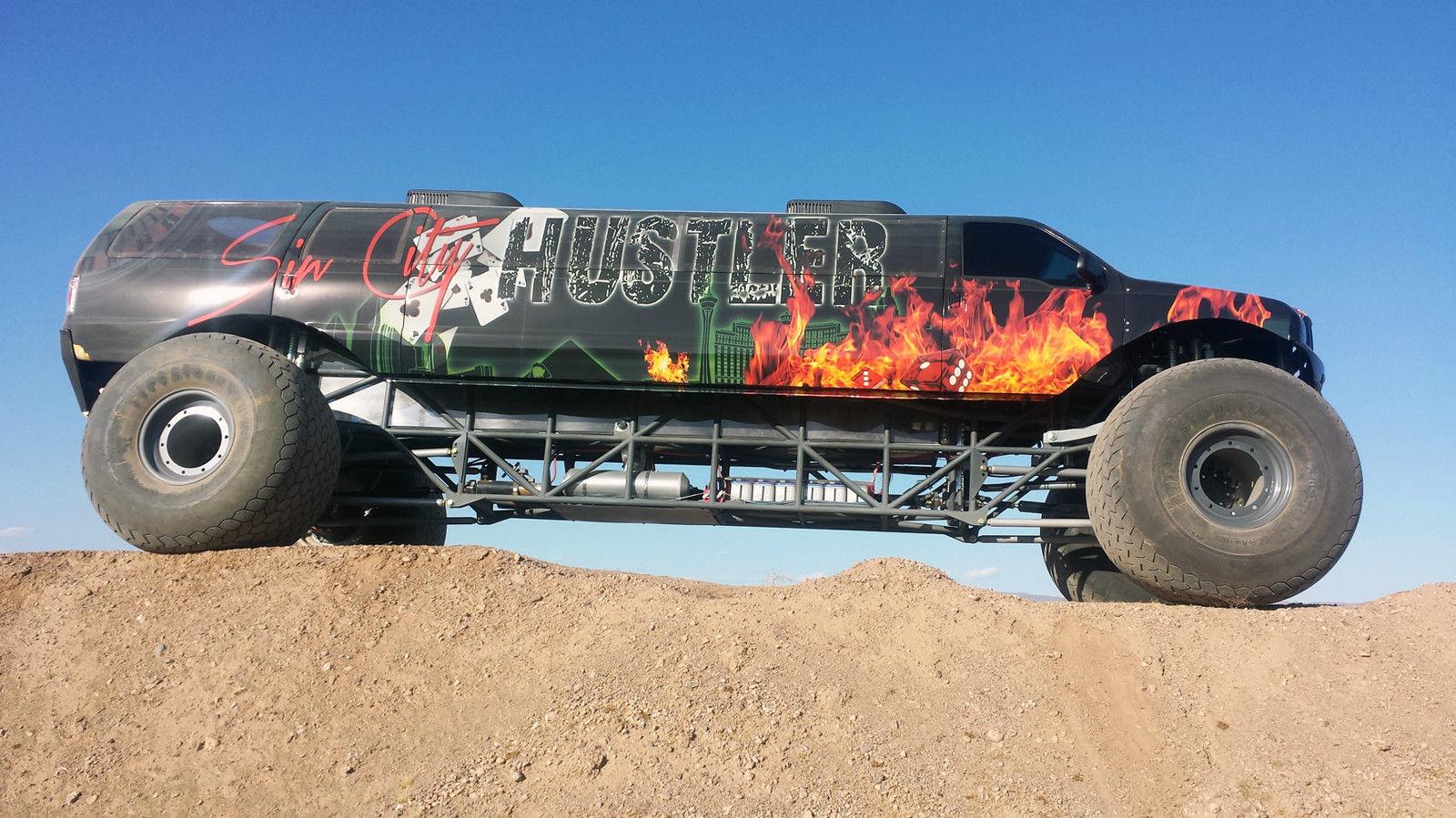 Buy The World's Longest Monster Truck – The Sin City Hustler Is Being Sold For One MILLION Dollars (Not Kidding)