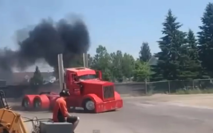 Watching This Big Rig Rip Donuts And Wipe Out A Fence Is Highly Entertaining, Unless You're The Fence
