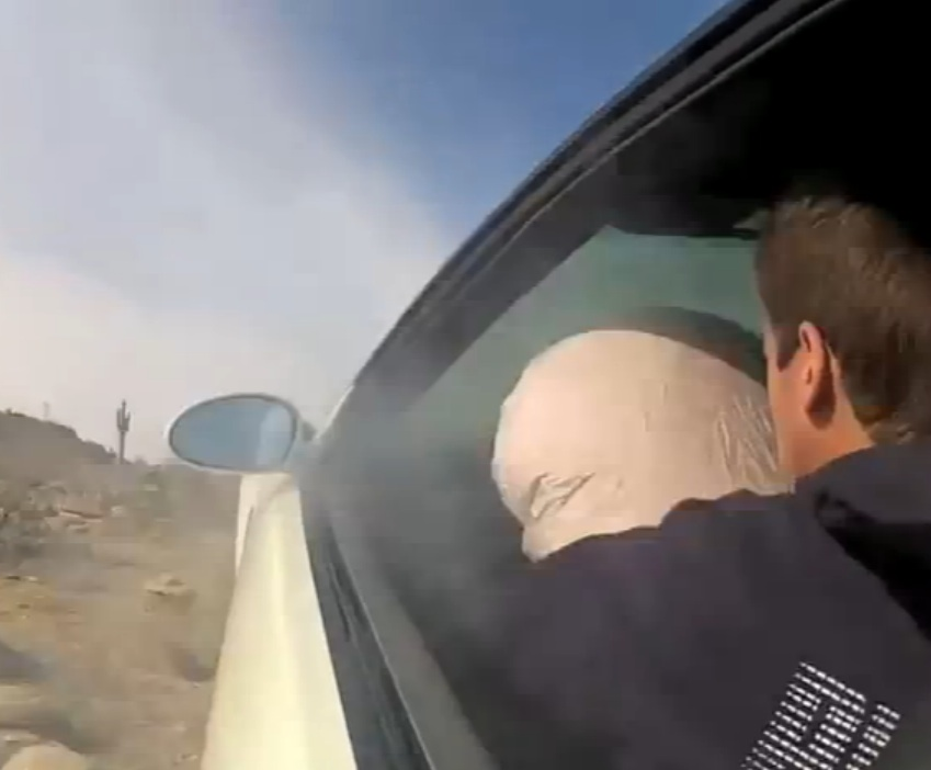 Watch This Kid Run Out Of Talent, Mangle A BMW, And Catch An Airbag To The Face In The Desert