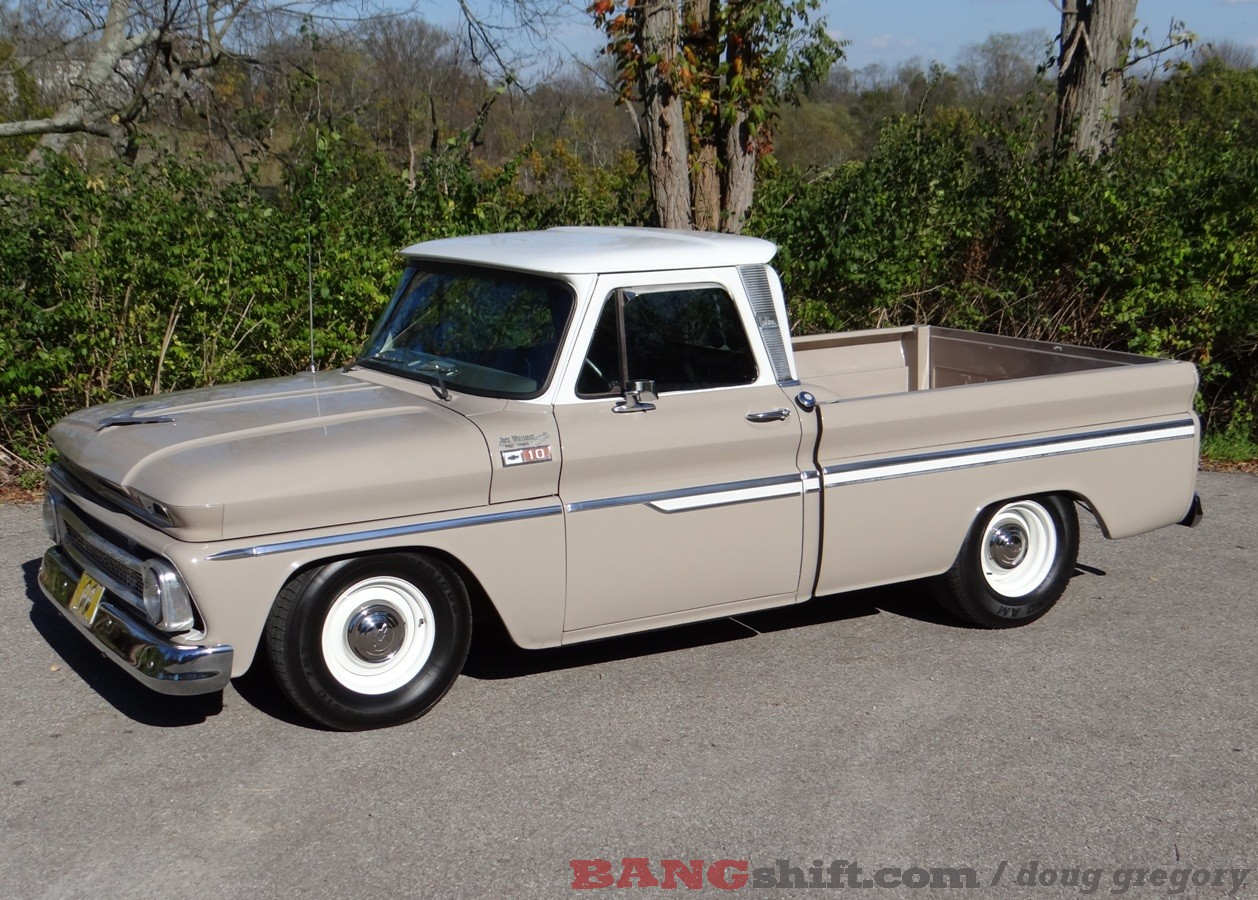 Chevy C10 1966 Lifted Now This Isnt Larrys First Hot Rod In Fact You Might Say Building And Painting Them Is Part Of His Profession He Comes By It Quite Honestly