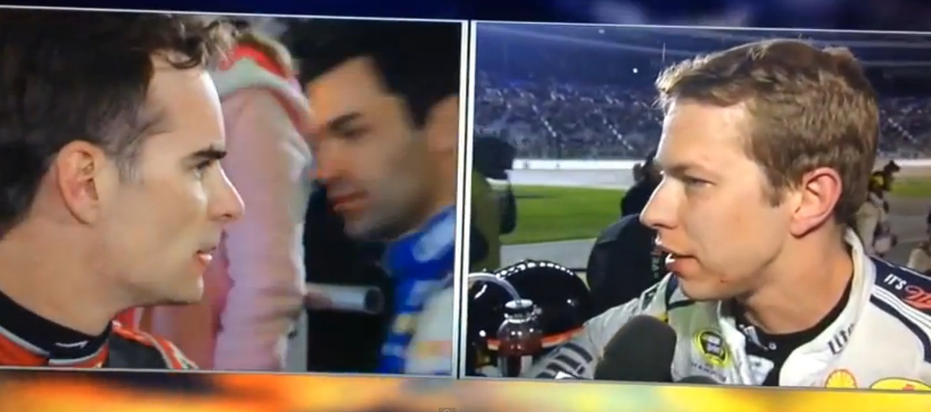 Watch Jeff Gordon and Brad Keslowski Along With A Cast Of Thousands Beat The Tar Out Of Each Other After Last Night's NASCAR Race