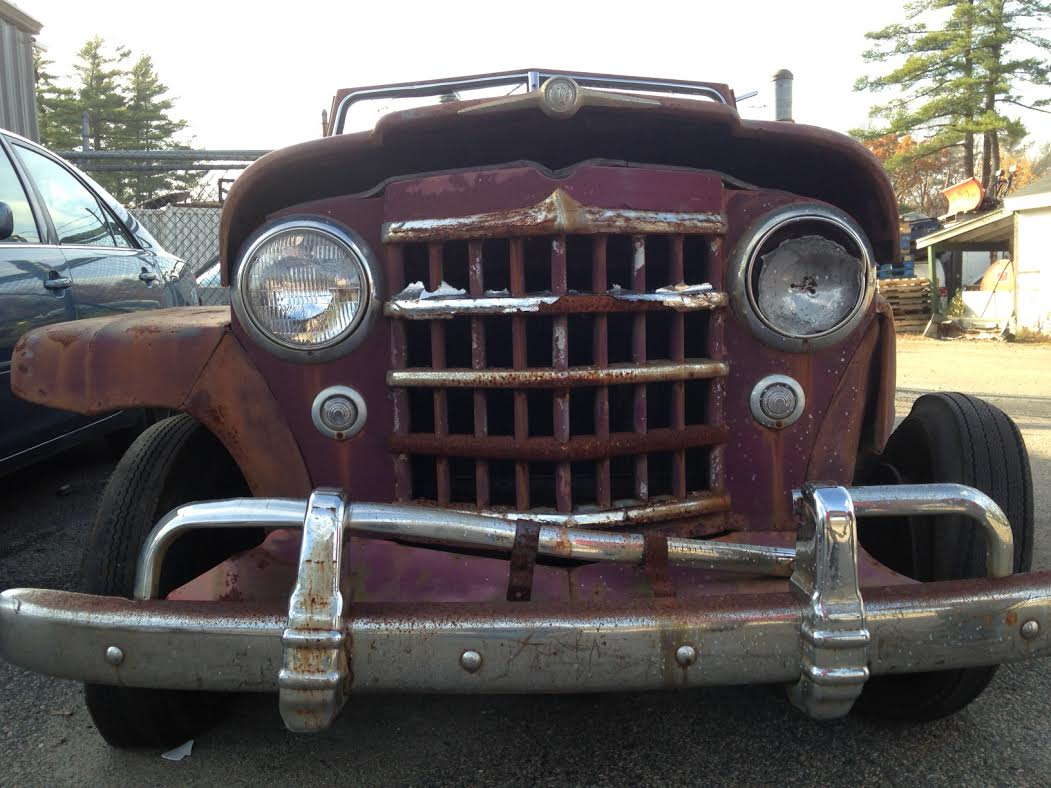 This 1950 Willys Jeepster Is Literally On Death's Door – Junkyard Spotted And Crusher Ready