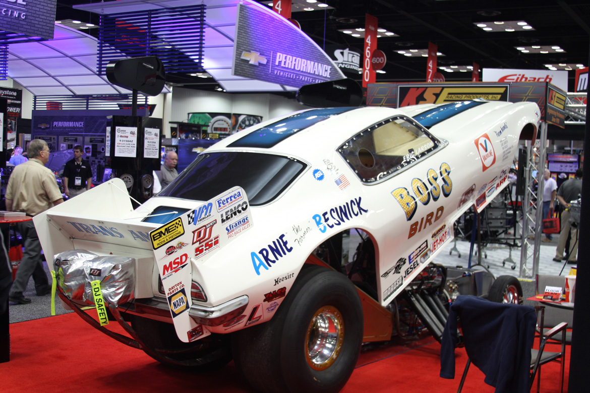 PRI 2014: The Boss Bird 1971 Pontiac Trans-Am Funny Car. 3,000hp Nitro Pontiac Engine, Beswick History, And A Cloyes Double Roller Timing Chain?!