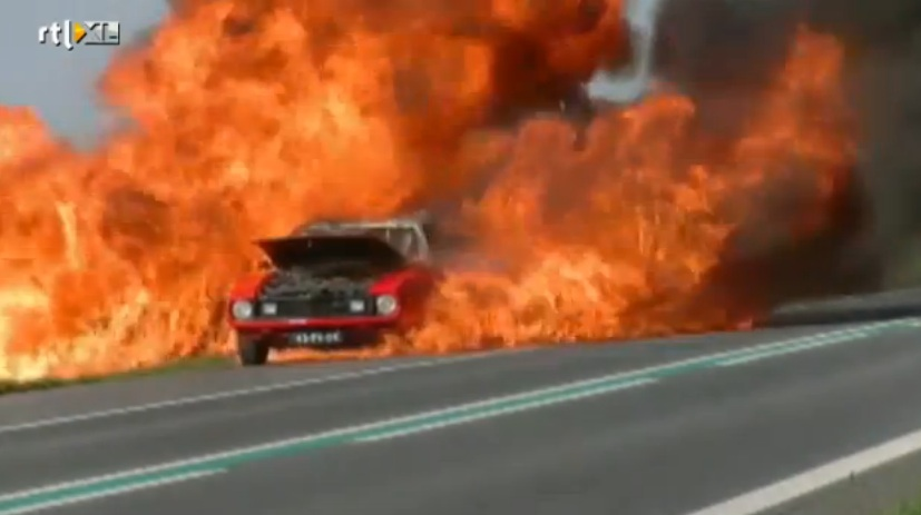 BOOM Video! Watch This AMC Javelin In The Netherlands Explode Like It Is Packed Full Of TNT