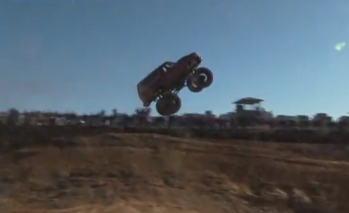 How Far Is Too Far? Watch This Bronco Jump And Find Out At The 2014 Mega Truck Finals