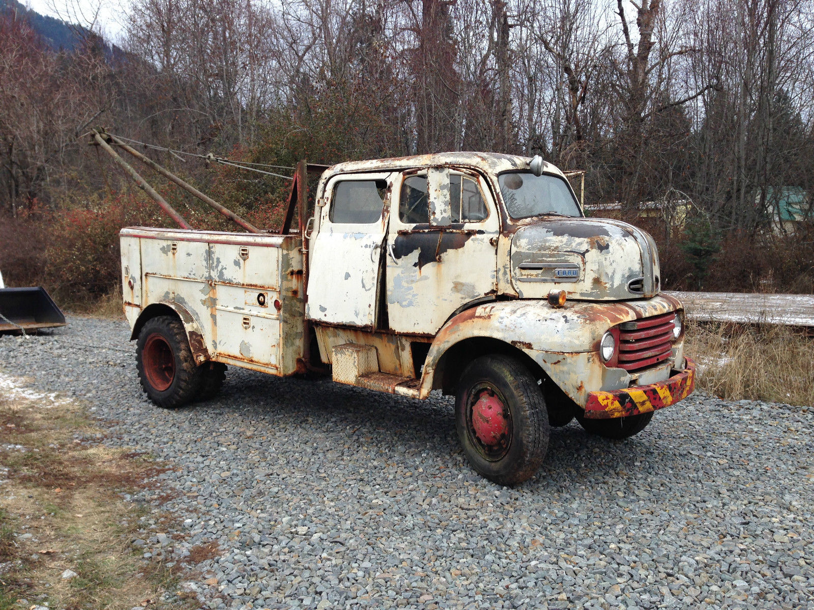 Wow! This 1948 Ford F-5 Has A Custom Crew Cab, Ultra Rare Four Wheel Drive, And More Rust Than A Sunken Ship – Buy It!