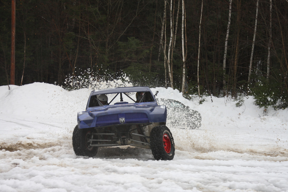 Red Bull Frozen Rush 2014: We Go Rollin' With Ricky Johnson In A Pro 2 Truck Through The Snow! Big Fun With The Legend Himself