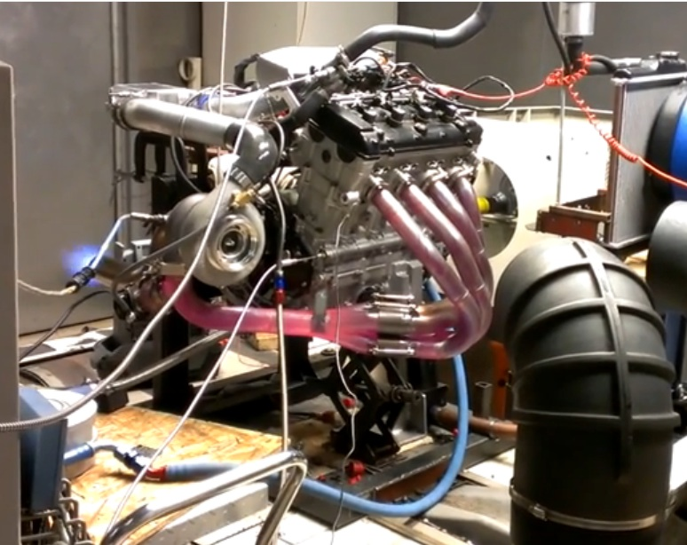 Watch This Turbocharged Hayabusa Engine Scream Make The Header Glow While Screaming Out Good Power At 10,000 RPM