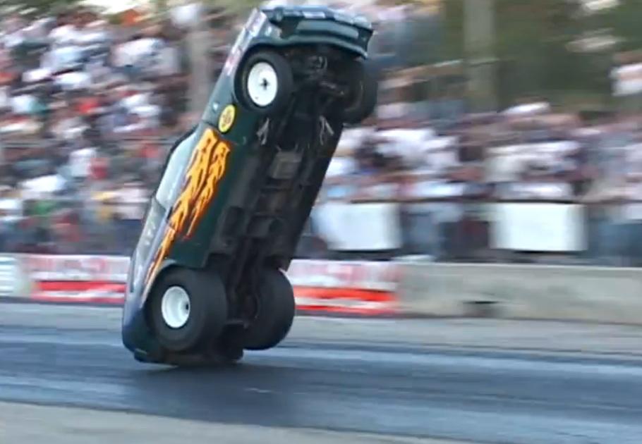Drag Racing Cars Doing Wheelies