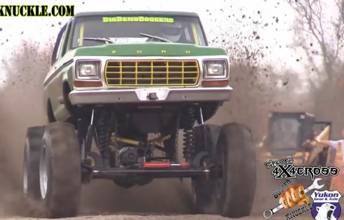 Brute Strength Meets Big Speed: Watch Mega Trucks And Mud Bog Rigs Run A Sprint Course While Dragging A Massive Tire – Big Blocks Screaming!