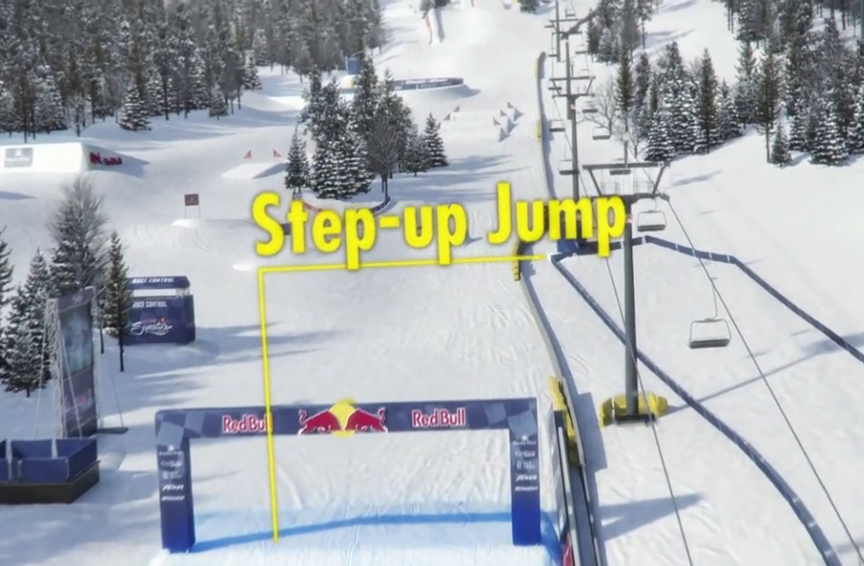 Red Bull Frozen Rush 2015: This Trick Animation Shows The Track Layout, Jumps, Chicanes, And How The Trucks Will Battle Head To Head In The Snow