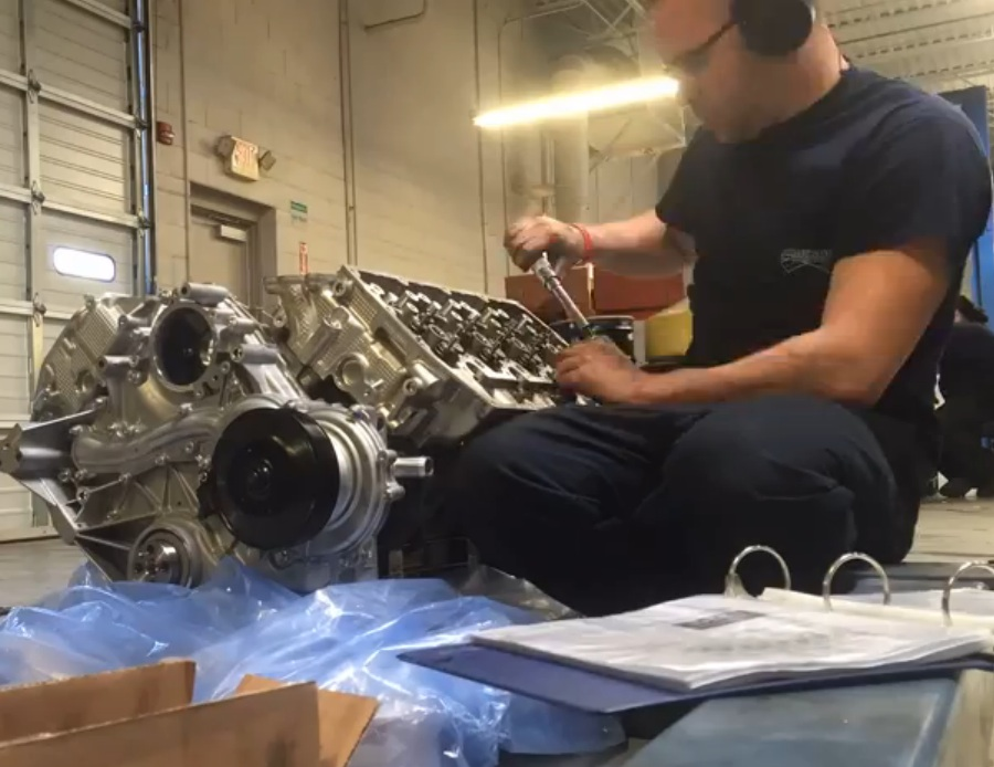 This Video Of A Mechanic Performing The 261 Step Process Of Installing Heads On A 6.7L Ford PowerStroke In Time Lapse Is Awesome
