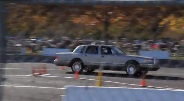 Bangshift Com Lincoln Town Car Owns An Autocross Course