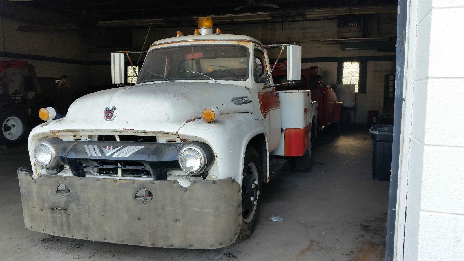 Bangshift Com 1954 Ford F600 Wrecker