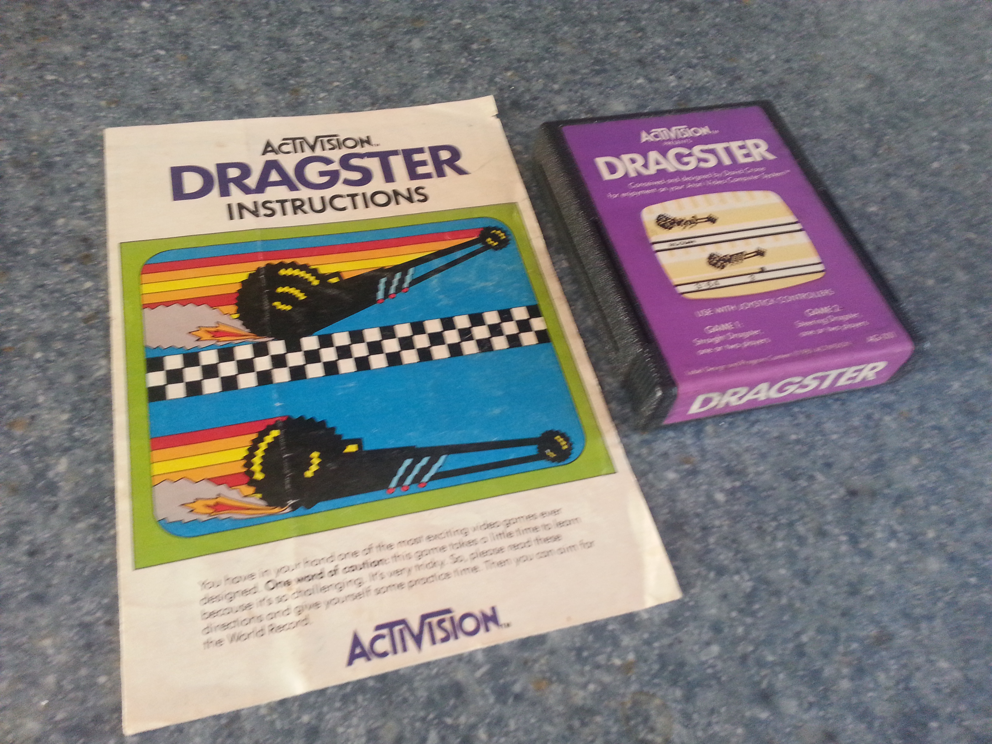 Remember The Ancient Atari Game Dragsters? We Do And We're Still Playing It!