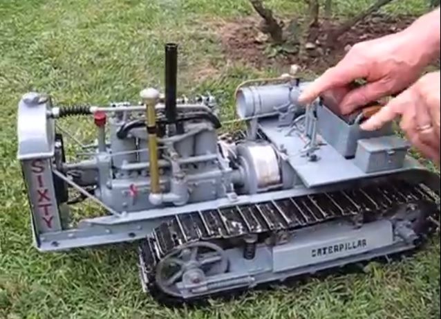 This Fully Functional Gas Powered Miniature Caterpillar Sixty Tractor ...