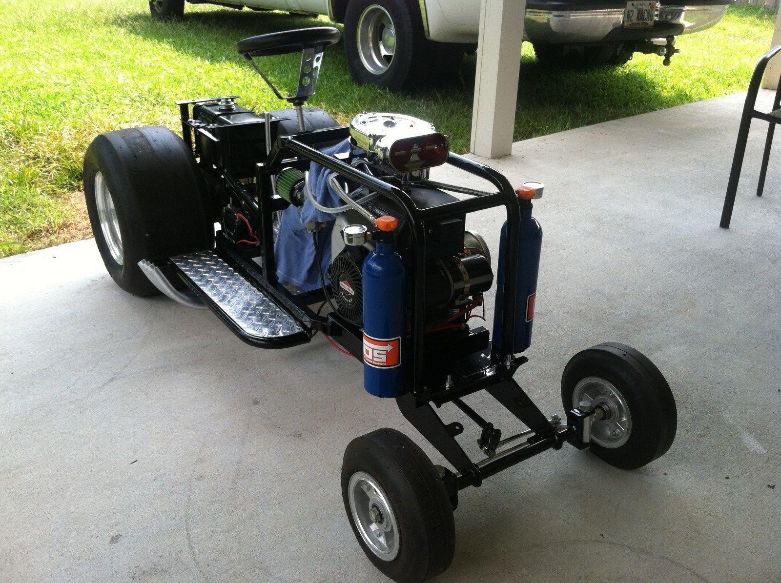 Custom Racing Tractors : Bangshift pro street lawn mower