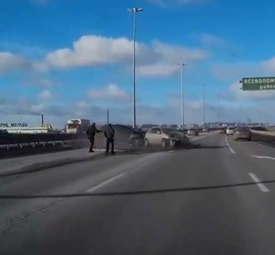 Watch Two Russian Guys Miss Certain Death By Inches While Stranded On A Highway – Incredible!