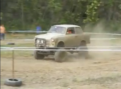 Eastern European Off-Roading At It's Finest: A Trabant Trar!
