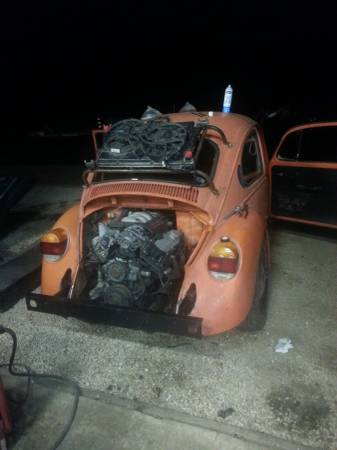 Craigslist Find: A VW Beetle With A GM 3800 V6 Hanging Off Of The Back