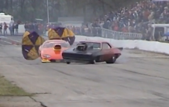 When Two Camaros Get Together At The Top End Of The Drag Strip, Nothing Good Can Come Of It