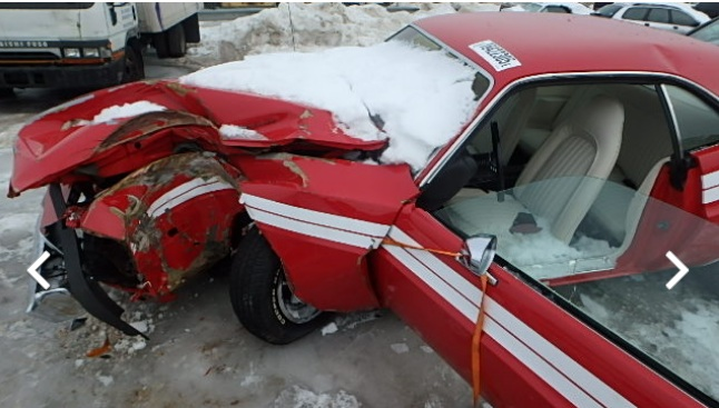 Copart Cadaver: This 1973 Dodge Challenger Was Pristine Before Being Meeting An Immovable Object