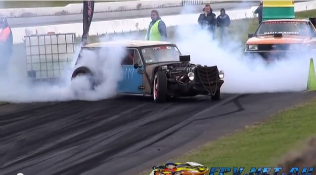 It's A Rat Rod…It's A Mini…It's A Tire-Spinning Top And It's Awesome!