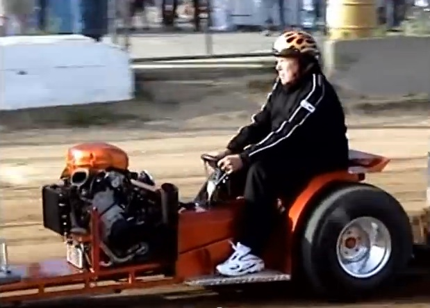 Few Things Are More BangShifty Than A Screaming, Motorcycle Engine Powered, Mini-Pulling Tractor