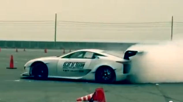 Itu0027s A Match Made In Drifting Heaven: A $350,000 Lexus LFA With A NASCAR TRD