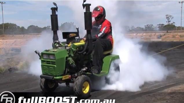 v8 lawn mower