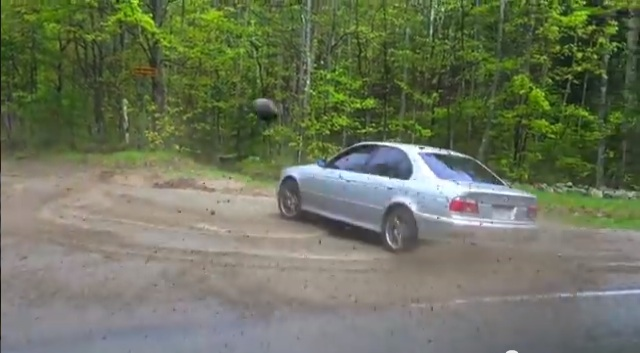 Heads Up: Guy Films Buddy Spinning Donuts In The Dirt Buddy Flings Rock Into Camera Guy's Face.